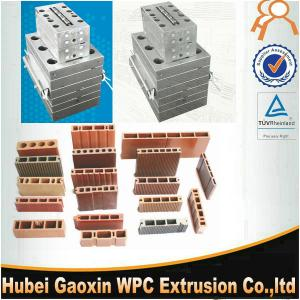 China High speed precision extrusion mold for wood plastic composite WPC hollow decking on sale