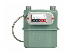 China Classic Aluminum Diaphragm Prepaid Ultrasonic Flow Gas Meter G1.6 Home Use on sale
