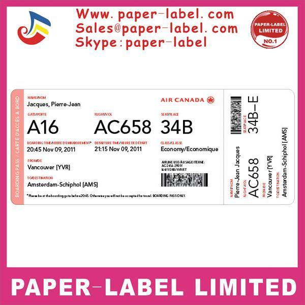 Anti Faking Watermark Encryption Secure Printed Boarding Pass Ticket
