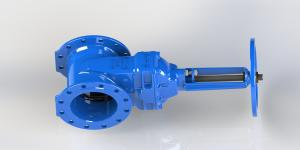 China Hand Wheel Or Top Cap Operated Water Gate Valve Red / Blue Epoxy Coated on sale