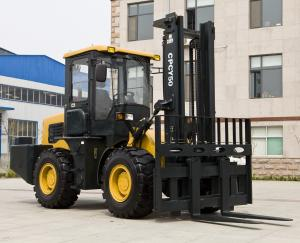 China 4WD Forklift 5 tons Rough Terrain Forklift Truck CPCY50 All Terrain Forklift 4x4 Forklift on sale