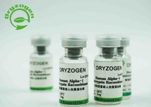 China 43.1Kd Recombinant Alpha 1 Antitrypsin White Lyophilized Powder Rice Grain Origin on sale