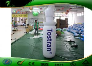 China Durable PVC Giant Inflatable Shapes / Inflatable Bottle Model With Logo Printing on sale