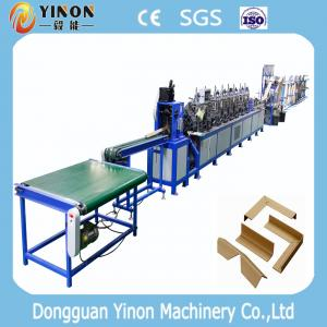 China Paper Edge Protector Machine/ V Shape + Punching Function Angle Board Machine on sale