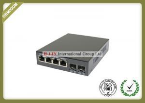 China 10/100/1000M Fiber Optic Media Converter With 2 SFP Fiber Port And 4 RJ-45 Ports on sale