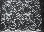 Water Soluble Heavy Corded Lace Fabric Knitted Flower With French Lace