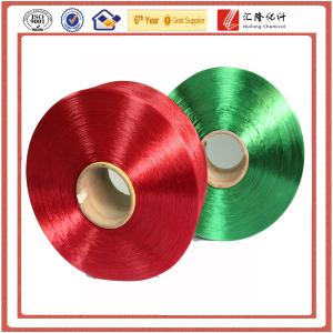 China droga teñida, hilados de polyester 100%. hilado completamente exhausto, TBR on sale