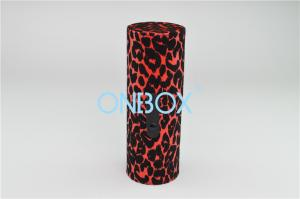 China Eco Friendly Luxury Cosmetic Box / Leopard Print PU Tube Case Fashion Handy Cosmetic Gift Box on sale