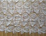 Garment Accessories Chemical Lace Fabric  Water Soluble lace fabric in White Color