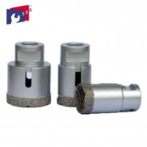 China Hard Porcelain Vacuum Brazed Diamond Tools , Tile Masonry Core Drill Bit on sale
