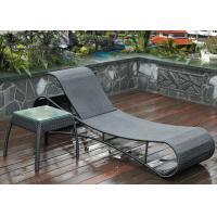 Single Outdoor Rattan Furniture Hair Clips Shape Rattan Chaise Lounge
