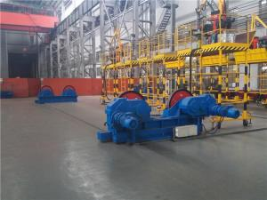 China 10 Ton Conventional Tank Welding Rotators , PU Roller Turning Rolls For Boiler Industry on sale