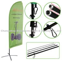 Custom Full Color Feather Flags And Banners Digital Printing Wind Banner Flags