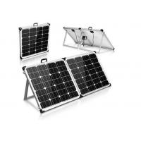 China Black Portable Suitcase Solar Panels Heavy Duty Aluminum Frame And Leg on sale