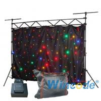 China Fabric Soft Cloth Flexible Led Curtain Colorful Sound Active For Party / KTV on sale