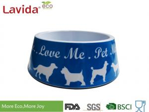 China Light Weight Non - Odor Melamine Cat Food Bowls Mixed Color High Strength Waterproof on sale