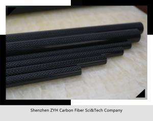 "China Carbon Fiber Roll Wrapped Twill Tube ~ 0.5"" ID x 24"", Gloss Finish on sale"