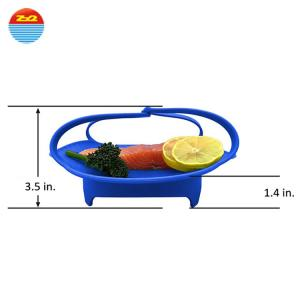 China Progressive Vegetable Steamer Cooking Basket Silicone Steam Cooker on sale