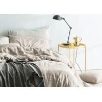 Linen Cotton Dyed Plain Bedding Sets , 4Pcs Comforter Bedding Sets For Home