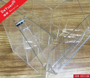 China Custom Acrylic Carrier Four Dividers With Handle Plexiglass Box on sale