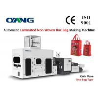 High Effective 3 Phase Non Woven Box Bag Making Machine Low Noise