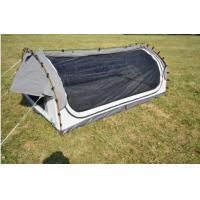 Fire Prevention 2 Person Swag Tent , Canvas Camping Swag Tent Sun Shelter