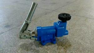 China Two Speed  Low Pressure Hydraulic Hand Pump With Pressure Gauge OEM Supply on sale