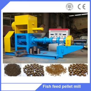 China Floating fish feed pellet extruder machine / pet food machine floating fish feed extruder on sale