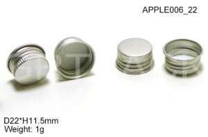 China Eco Friendly H11.5mm Aluminium Bottle Caps for Color Cosmetics Lip Gloss Container on sale