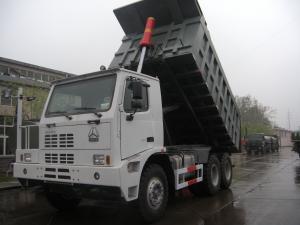 Quality HOWO交通機関のために頑丈なダンプ トラックを採鉱する70トンの強い馬力6x4 for sale