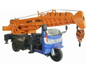 China Small Tricycle Mobile Truck Mounted Hydraulic Crane 3- 5 Ton For Construction on sale