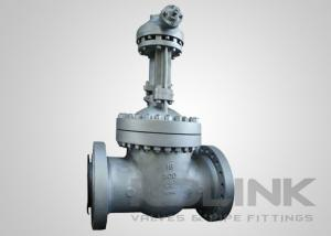 China Large Gear Operated Gate Valve Full Port RF Flanged Flexible Wedge on sale
