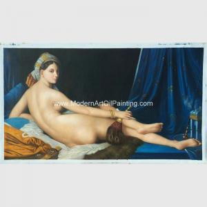 China Canvas People Oil Painting , Nude Woman Oil Painting Reproduction On Linen on sale