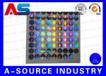 銀製の保証注文のレーザー光線写真ステッカーのラベルのタンパーの証拠のシールはカスタム設計します