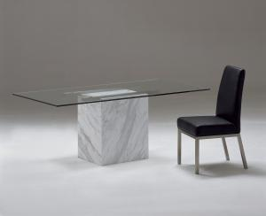Quality Stone Marble Dining Tables , Stainless Steel Marble Coffee Table for sale