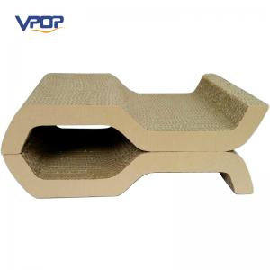 China Cute S Shaped Cat Scratcher Pet Toys Professional For Furniture Protection on sale