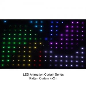 China Full Color P9 to P20 4 x 3m LED Video Curtain , Flexible Soft Led Stage Screen 200w on sale