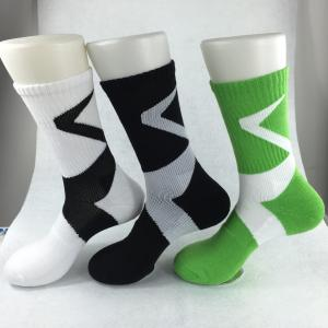 China Yellow Anti - Foul Cotton Ankle Socks , Black / Green Elastane Mens Short Ankle Socks on sale