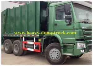 China 6x4 howo Refuse Collection Trucks 14 tons , Big Garbage Truck 20 CBM on sale