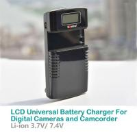 LCD Universal Battery Charger For Digital Cameras and Camcorders| M20