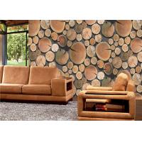 China Decorative Low Price Wallpaper , Wood Pattern Eco Friendly 3d Interior Wallpaper Lounge Rooms on sale