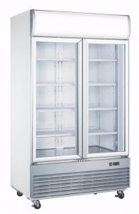 China 1038L No Frost Upright Diplay Freezer , Fan Cooling Glass Door Refrigerator on sale