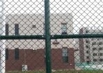 6 x 12 FT Green Chain Link Fence For Sports Court 4 . 0 MM Diamond Mesh Fence
