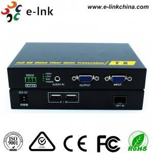 China USB VGA KVM Fiber Optic Extender on sale
