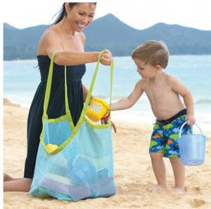 China promotional Clothes Toys Carry All Sand Away Beach Bag Mesh Tote Bag on sale