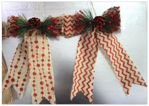 China Ribbon Bow Present Wrapping Accessories Merry Christmas Tree Decoration Classical Linen on sale