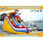 Tobogán acuático inflable comercial amarillo popular de la diapositiva del resbalón N de la diapositiva para el patio