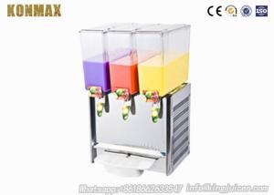 Cold Beverage Dispenser 3×18L Stainless Steel Tea Juice Drink Ice Machine
