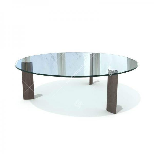 Modern 15mm Glass Top Hotel Coffee Table Stainless Steel Solid