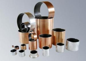 China PTFE + Porous Bronze Powder Steel Backing Self Lubricating Bushing Du Bearing / Du Bush ( SF-1 ) on sale